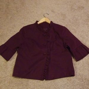 Merona purple ruffle jacket